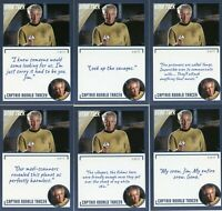 Star Trek Archives & Inscriptions card 70 Captain Ronald Tracey 17 different Var