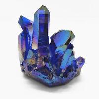 Natural Quartz Crystal Rainbow Titanium Cluster Mineral Specimen Healing Home