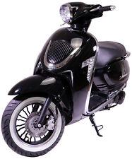 Razory Veterano Schwarz 125ccm Motorroller Retroroller 12 Zoll m. Weißwandreifen