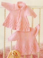 Baby Swing Jacket/Collar & Dress 0 - 18 mths 4 Ply Knitting Pattern
