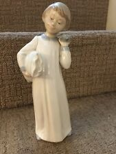 Nao By Lladro. Daisa Boy With Nightie And Pillow Approx 9.5 Inch
