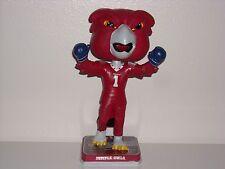 "HOOTER THE OWL Mascot ""Rocky"" Bobble Head Temple University Limited **New**"