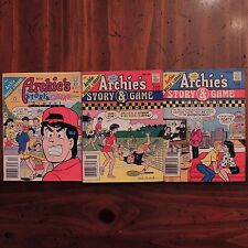 THE ARCHIE DIGEST LIBRARY Lot 3 Story & Game Jughead Veronica Betty comics USA