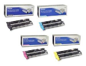 4 x Original Toner EPSON Aculaser C2600 C2600DN / S050229 S050228 -S050226