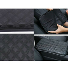 Universal Console Armrest Cover Center Console Pad Car Black Leather Grid pad