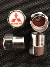 4 misspelt Schrader Tyre Cap Wheel Valve Air Dust Screw Car Mitsubishi Gift