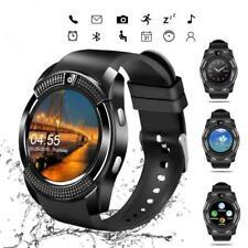 V8 Bluetooth Smart часы сенсорный экран браслет фитнес трекер на запястье для iOS