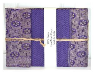 Brocade Cover Journal Diary with Embedded Petals Hand Made Paper From India