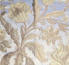RUBELLI Roi Soleil silver gold damask viscose linen silk cotton remnant New