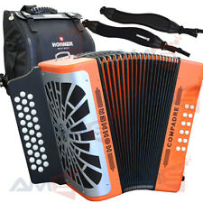 NEW Hohner COMPADRE FBE Fa 31 Button Diatonic Accordion with Bag and Straps
