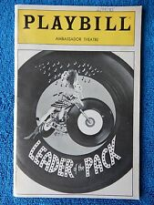 Leader Of The Pack - Ambassador Theatre Playbill - February 25th, 1985 - Manoff