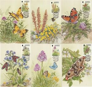 ALDERNEY 5 MAY 1994 WILDLIFE DEFINITIVES ALL 6 PHQ CARDS SHS a