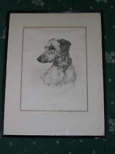 LARGE ANTIQUE DALMATIAN DOG PAINTING 1931 SIGNED FRAMED