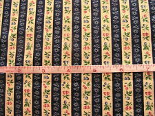 "FRENCH royal WALLPAPER, navy 100% quality cotton sew fabric 1 YARD x 46"" OOP"