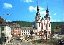 AK, Prüm Eifel, Hahnplatz mit Basilika, ca. 1991