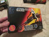"""1995 Star Wars  """"The Power of the Force""""  Imperial Speeder Bike   Window Box"""
