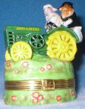 Franklin Mint Collie & Sheep John Deere Treasure Box