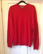 Old Navy Cashmere Sweater L Red Mens New Crewneck Long Sleeve NWOT