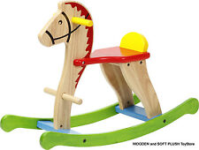 VOILA TOY sturdy wooden ROCKING HORSE child's gift *NEW