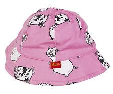 Briers Baby 100 Cotton Beach Bush Sun Hat Protection Kids Childrens Summer Head Pink Farm Yard Print Girls 1 - 1.5 Years Yrs
