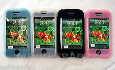 Pack of 4 Pink White Blue Black Silicone Skin Cases for Apple iPhone 2G Seconds
