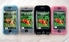 Pack De 4 Rosa, Blanco Azul Negro Silicona piel caso para Apple Iphone 3gs segundos