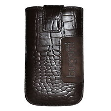 Bugatti Tasche SlimeCase 07764 Leder Croco Gr. SL, dark brown, (81x134mm), Case