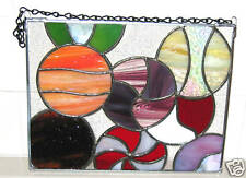 HARD CANDY Handcrafted Stained Glass Deco Pane