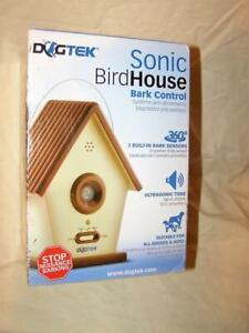 DOGTEK Sonic Bird House Dog Bark Control Outdoor/Indoor - Stops Nuisance Barking