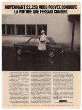 1972 FIAT 128 Vintage Original Print AD Black car with Enzo Ferrari photo Canada