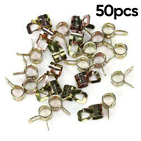 10 Spring Action Gas hose Clamps Fuel Line OD 7//16 ID 1//4