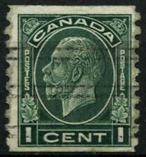 Canada 1932-3 SG#326, 1c Green Imperf x P8.5 Pre-Cancel Used #D45510