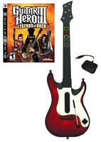 NEW PS3 Wireless Guitar Hero 5 Guitar & GH III Legends of Rock Game Bundle Kit