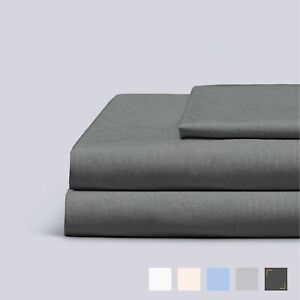 Everspread Cotton Bed Sheet Set, Soft Percale, Breathable Sheets, Deep Pockets