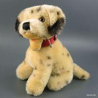 Steiff Dally Dalmatian Dog Sitting 10cm 4in Mohair Plush 1960s Collar no ID