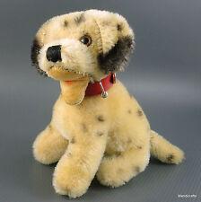 steiff daily dalmatiner hund sitzend 10cm 4in mohair plüsch 1960s kragen ohne ausweis