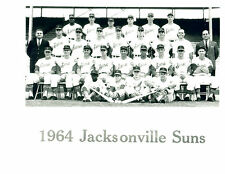 1964 JACKSONVILLE SUNS TEAM 8X10 PHOTO  BASEBALL CARDINALS FARM TEAM