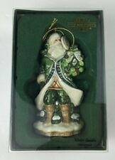 FITZ AND FLOYD 2009 Porcelain Figurine Ornament Winter Garden Santa With Box