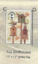 """Home Decor Garden Flag (Fall Birdhouses) 11""""x15"""""""