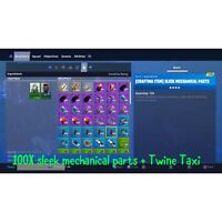 Fortnite Save The World 100X Sleek Mechanical Parts + Twine Taxi PS4 , XBOX& PC