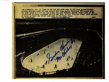 Gordie Howe signed photo(Rp) of last Nhl game at Olympia Stadium 12-17-79-Rare!