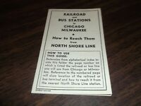 FEBRUARY 1943 CNS&M NORTH SHORE LINE HOW TO REACH RAILROAD AND BUS STATIONS