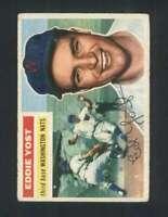 1956 Topps #128 Eddie Yost VG/VGEX Senators 94669