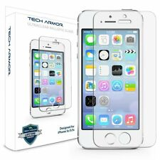 iPhone SE Screen Protector Tempered Glass Tech Armor HD Clear 9H Hardness