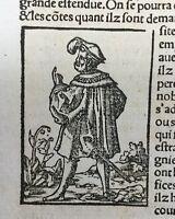 Allemagne 1575 Sébastien Munster Cosmographia Universalis Rare Bois gravé