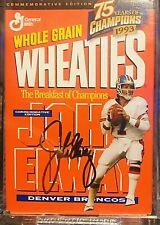 WHEATIES 75 Years of Champions -John Elway 24K Gold Signature- mini box