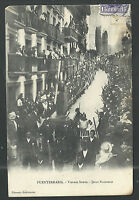Postal antigua Semana Santa Fuenterrabia andachtsbild santino holy card santini