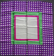 foulard en soie 76 cm x 74 cm vintage