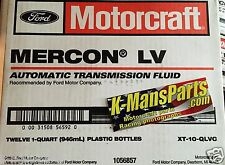Motorcraft Mercon LV transmission fluid XT10QLVC case 12 quarts