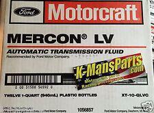 Motorcraft Mercon LV transmission fluid XT10QLVC case 12 quarts Ford